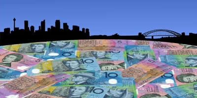 Sydney Harbour With Australian Dollars