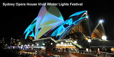 Sydney Opera House Vivid Winter Lights Festival